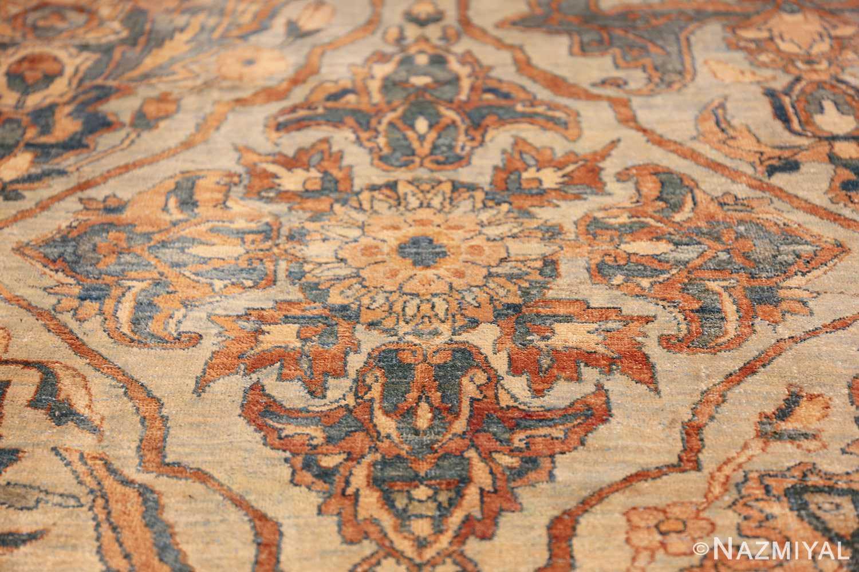 large sea foam shield design antique persian kerman rug 49677 round Nazmiyal