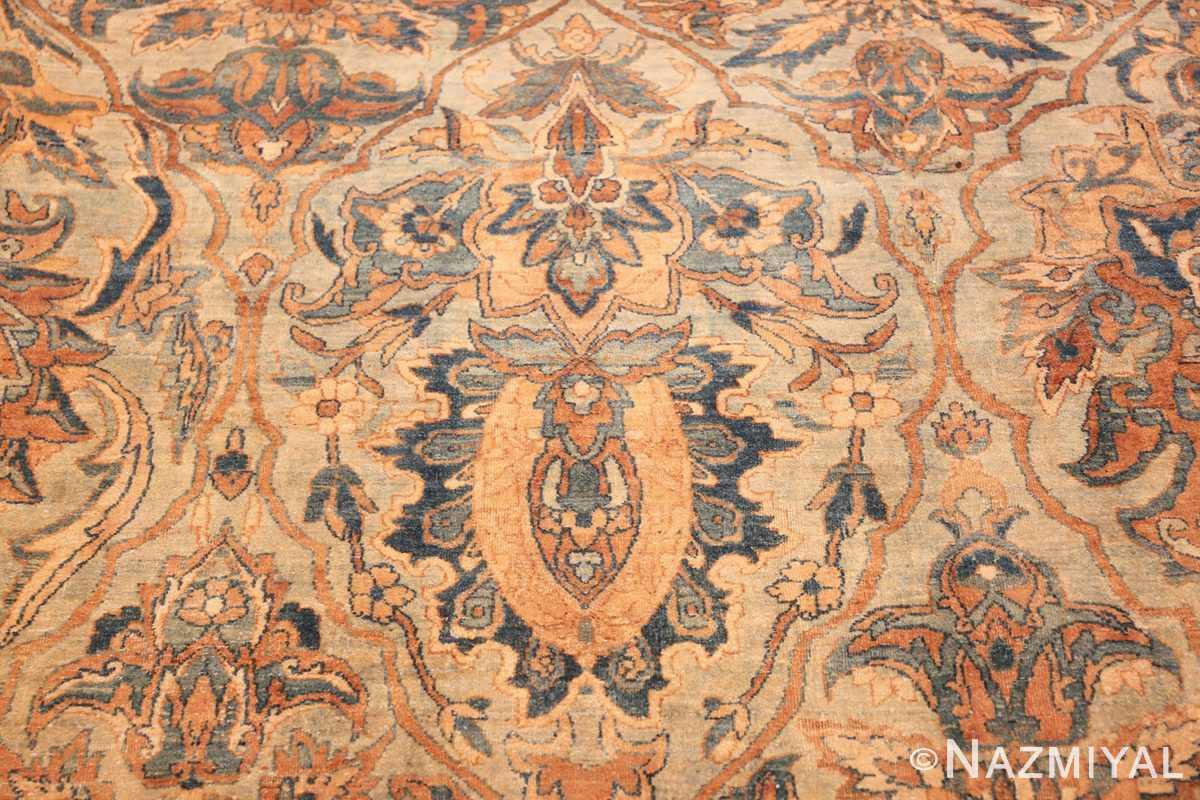 large sea foam shield design antique persian kerman rug 49677 shield Nazmiyal