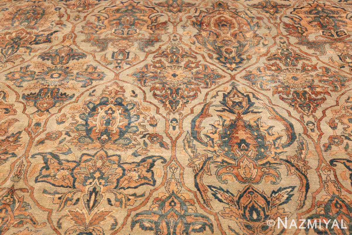 large sea foam shield design antique persian kerman rug 49677 trio Nazmiyal