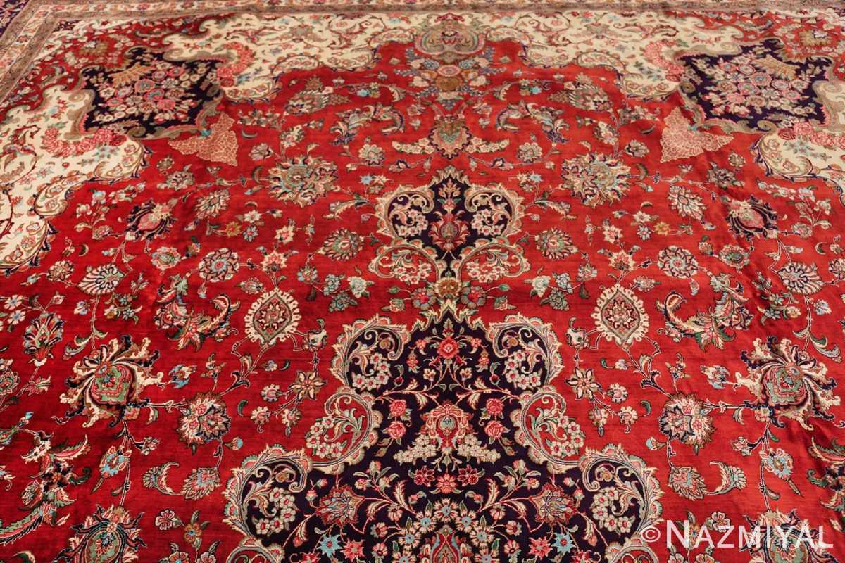large silk vintage qum persian rug 60022 part Nazmiyal