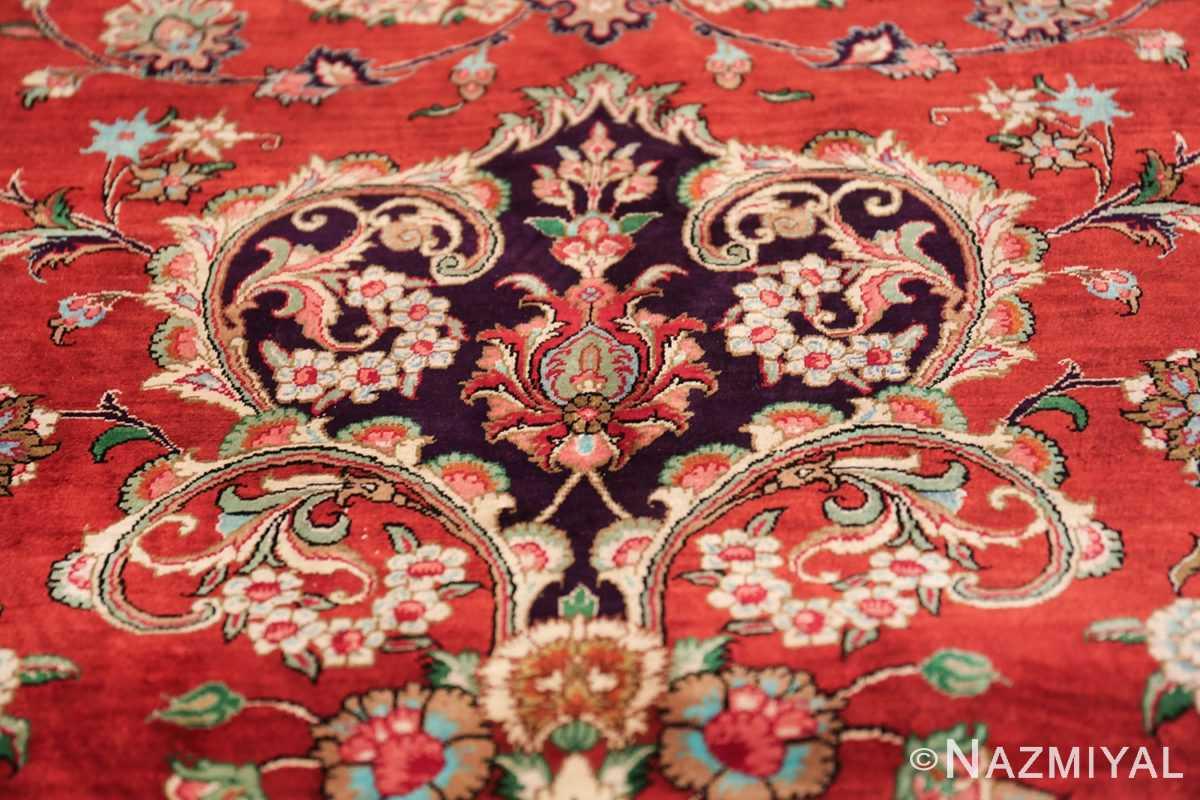 large silk vintage qum persian rug 60022 tiara Nazmiyal