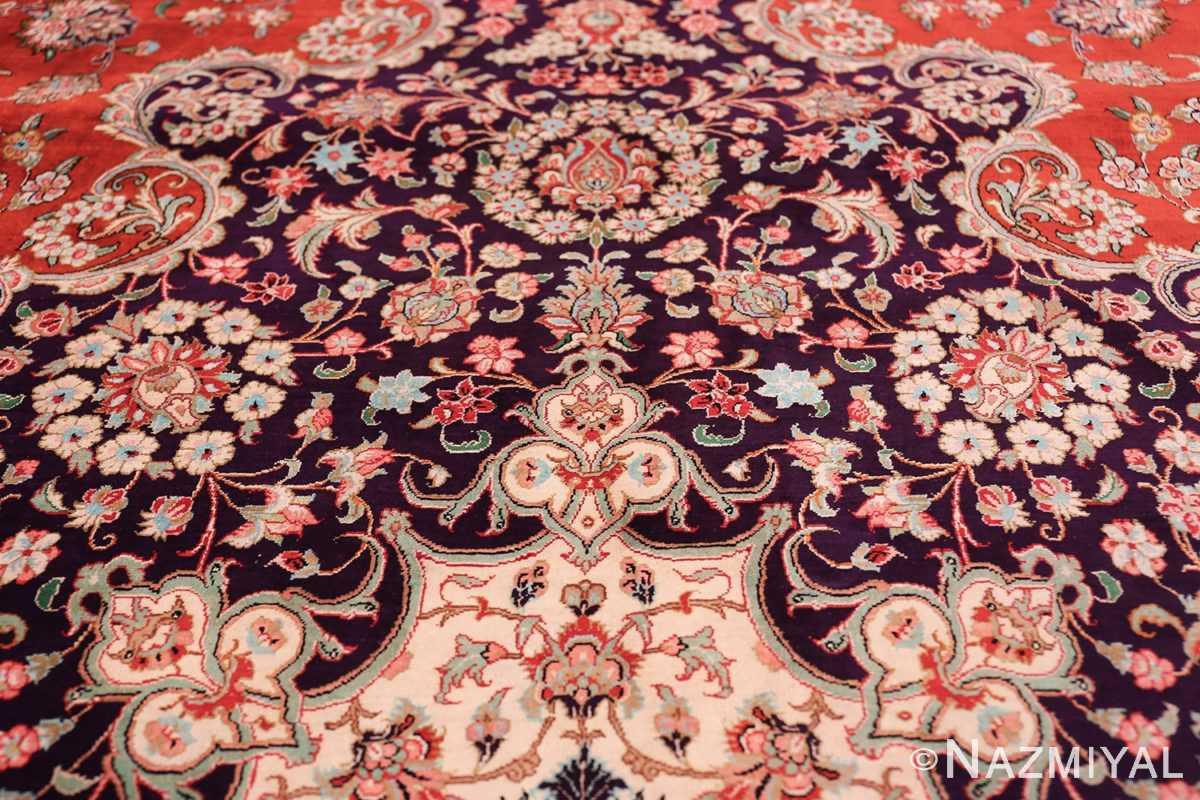 large silk vintage qum persian rug 60022 trio Nazmiyal