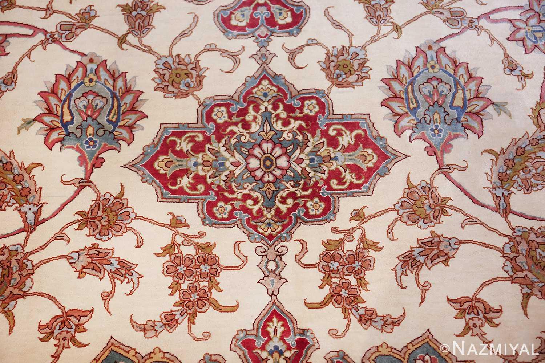 large silk vintage qum persian rug 60025 design Nazmiyal