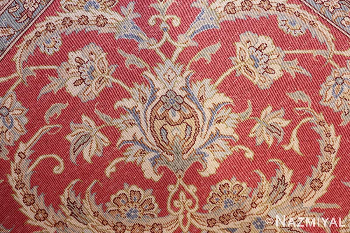 large silk vintage qum persian rug 60025 knots Nazmiyal