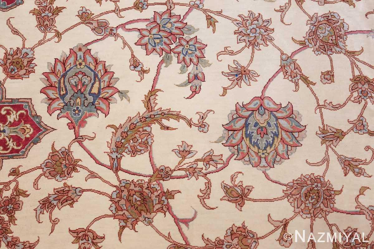 large silk vintage qum persian rug 60025 scrolls Nazmiyal