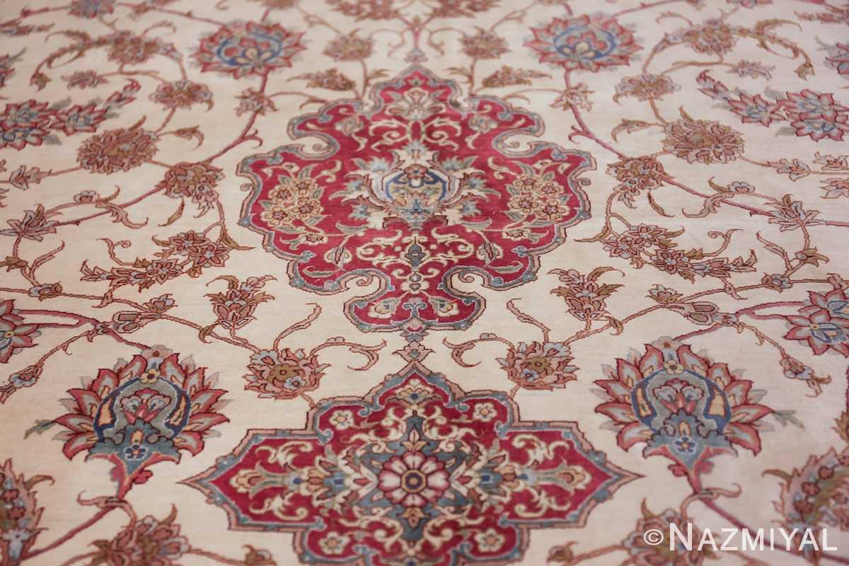 large silk vintage qum persian rug 60025 tiara Namziyal