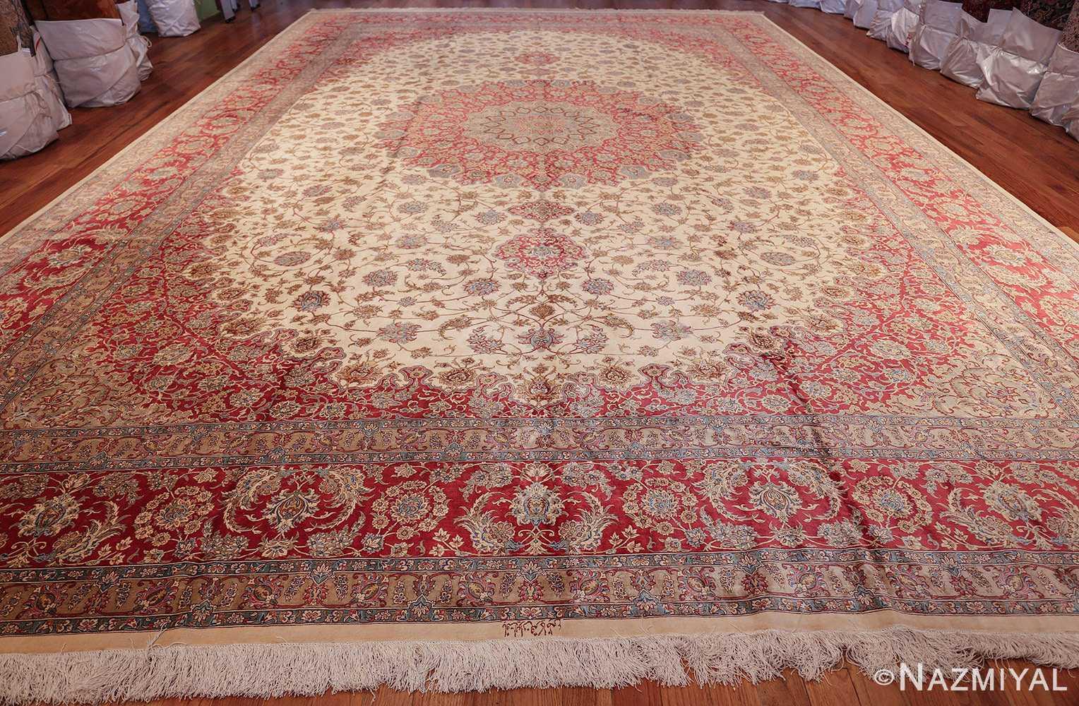large silk vintage qum persian rug 60025 whole Nazmiyal