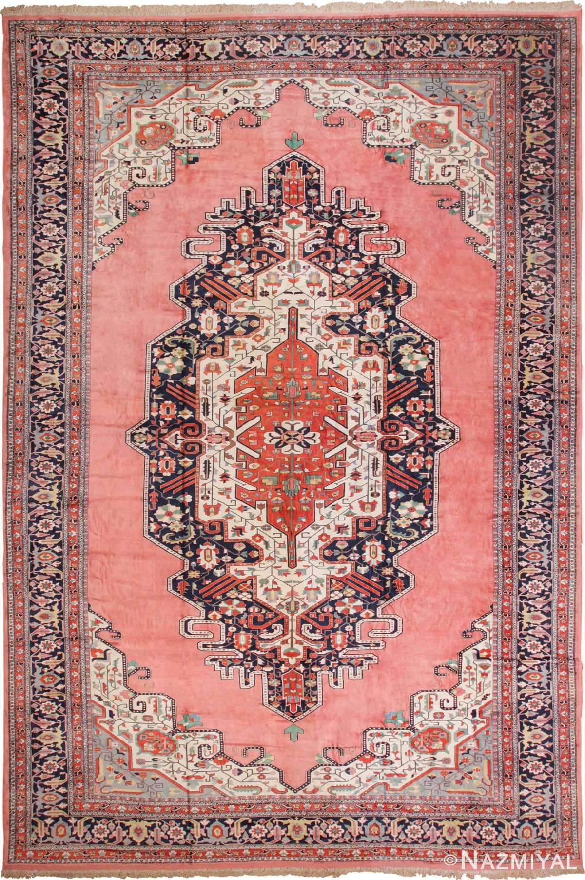 Large Luxurious Vintage Persian Silk Heriz Rug 60034 by Nazmiyal