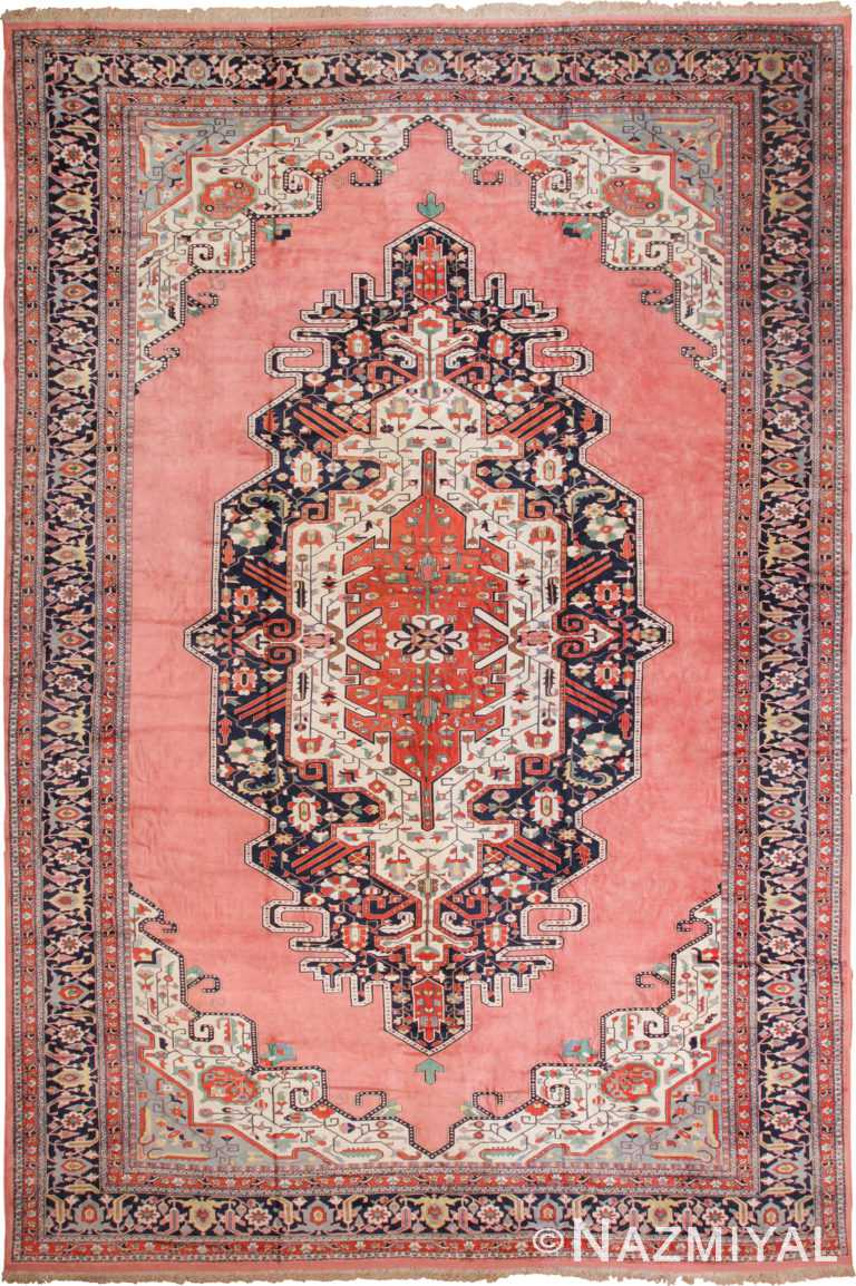 Large Luxurious Vintage Persian Silk Heriz Rug 60034 by Nazmiyal