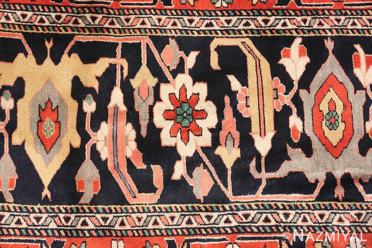 large silk vintage qum persian rug 60034 border Nazmiyal