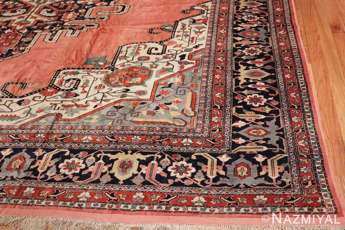 large silk vintage qum persian rug 60034 corner Nazmiyal