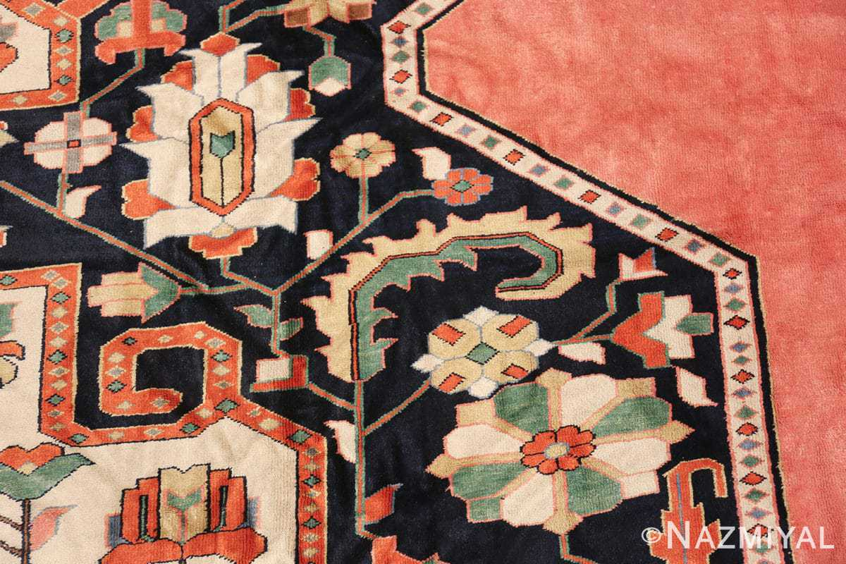 large silk vintage qum persian rug 60034 design Nazmiyal