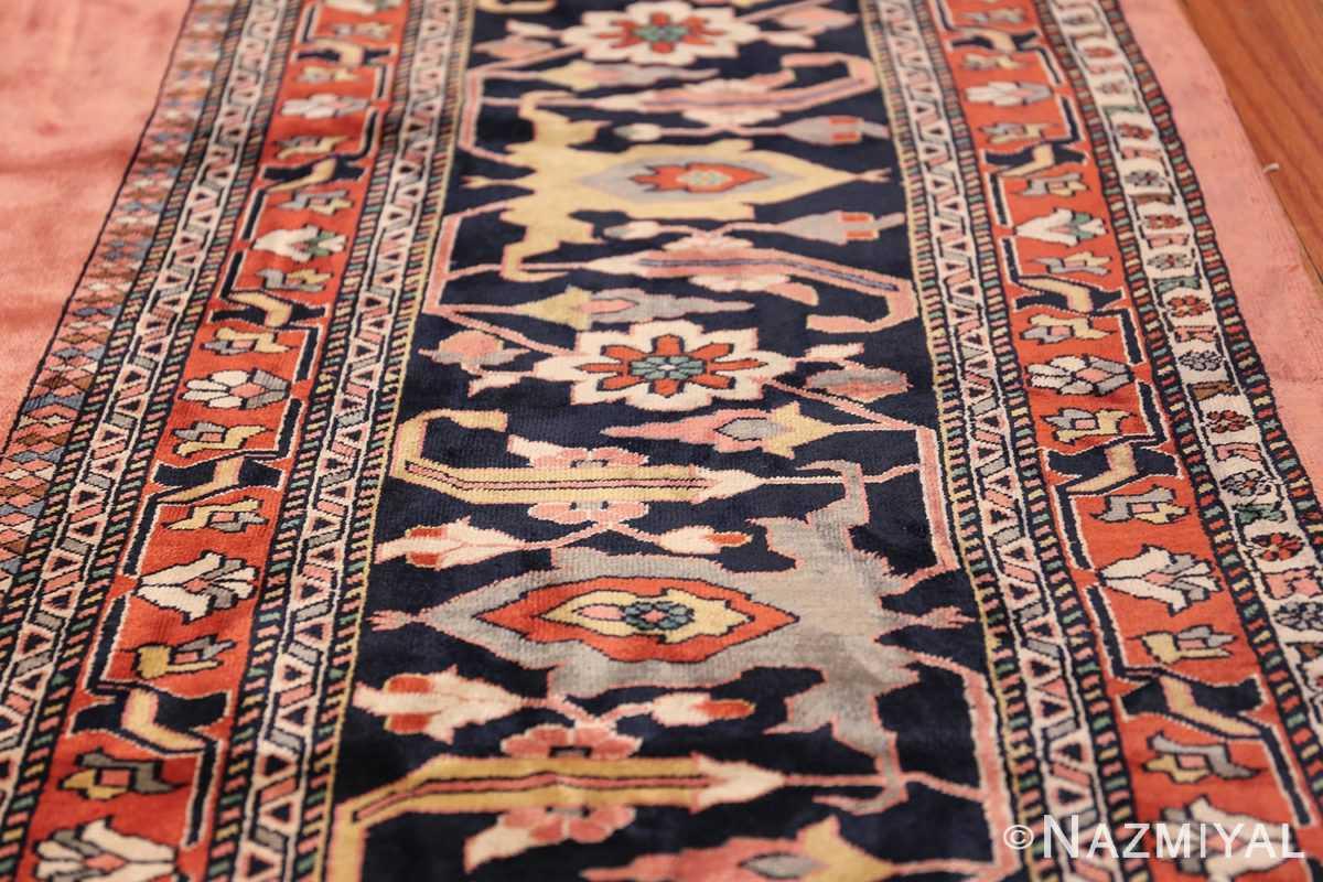large silk vintage qum persian rug 60034 lines Nazmiyal