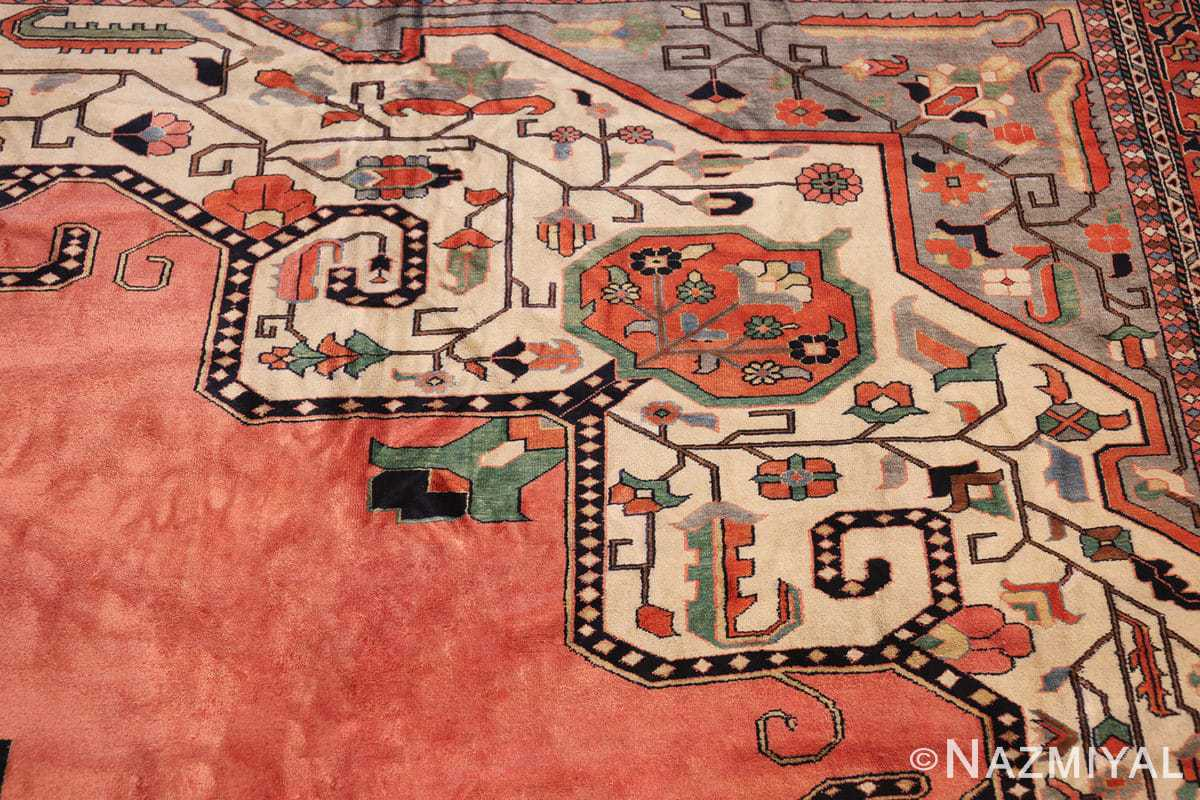 large silk vintage qum persian rug 60034 part Nazmiyal