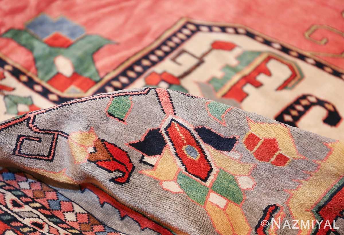 large silk vintage qum persian rug 60034 pile Nazmiyal