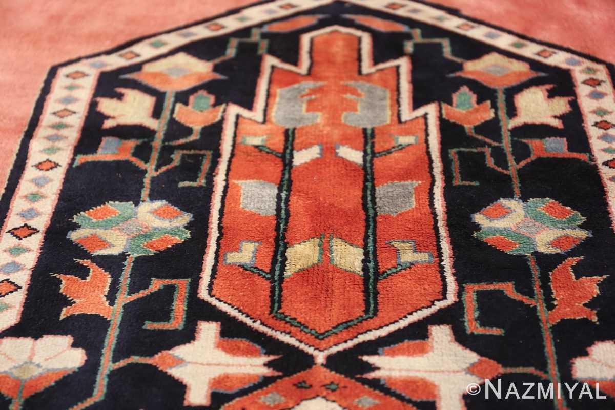 large silk vintage qum persian rug 60034 texture Nazmiyal