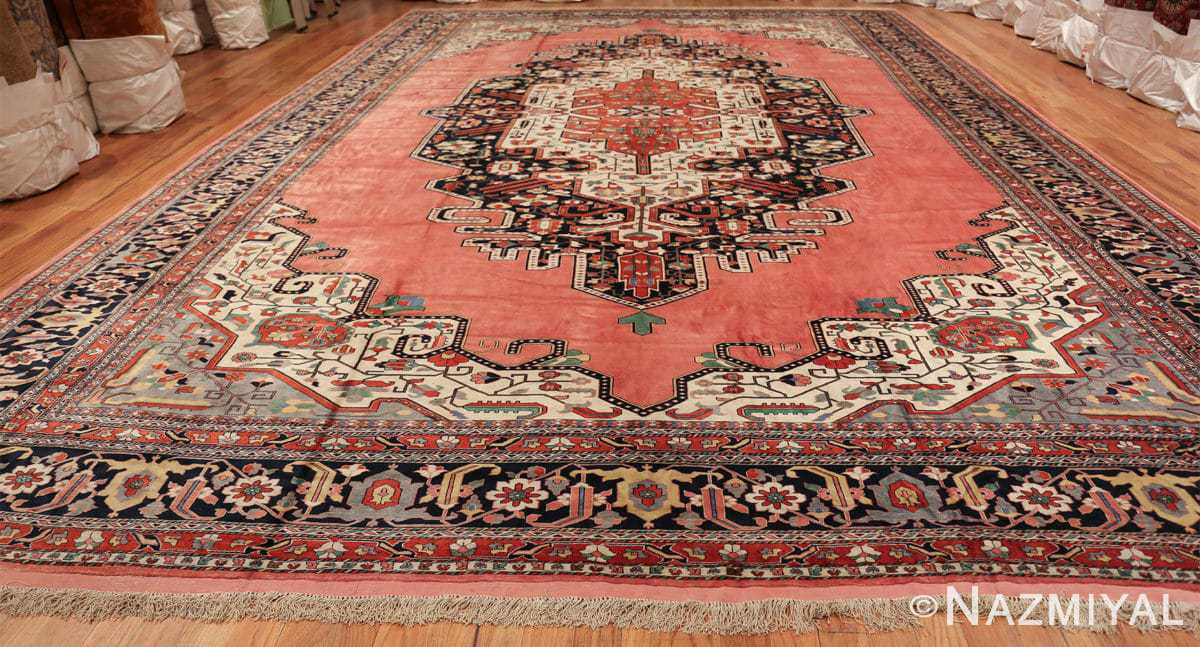 large silk vintage qum persian rug 60034 whole Namziyal