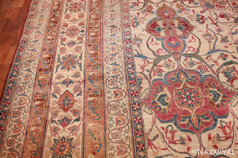 large square antique persian kerman rug 49676 border Nazmiyal