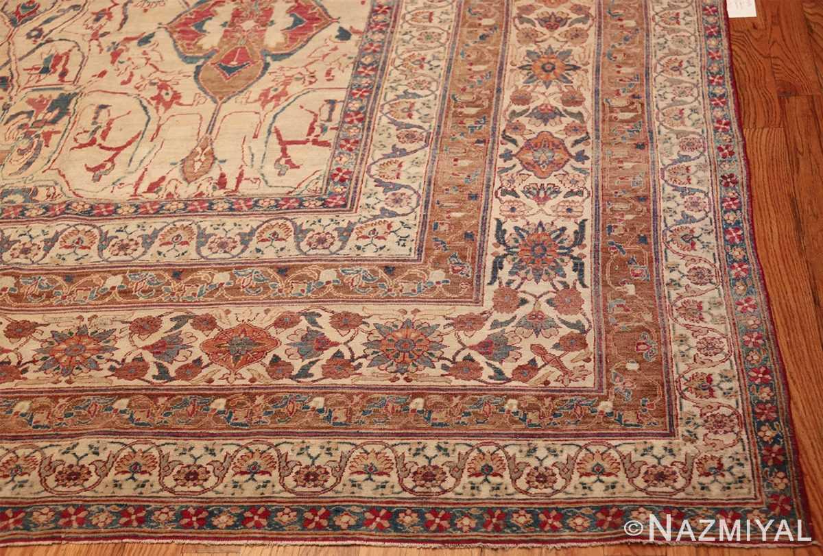 large square antique persian kerman rug 49676 corner Nazmiyal
