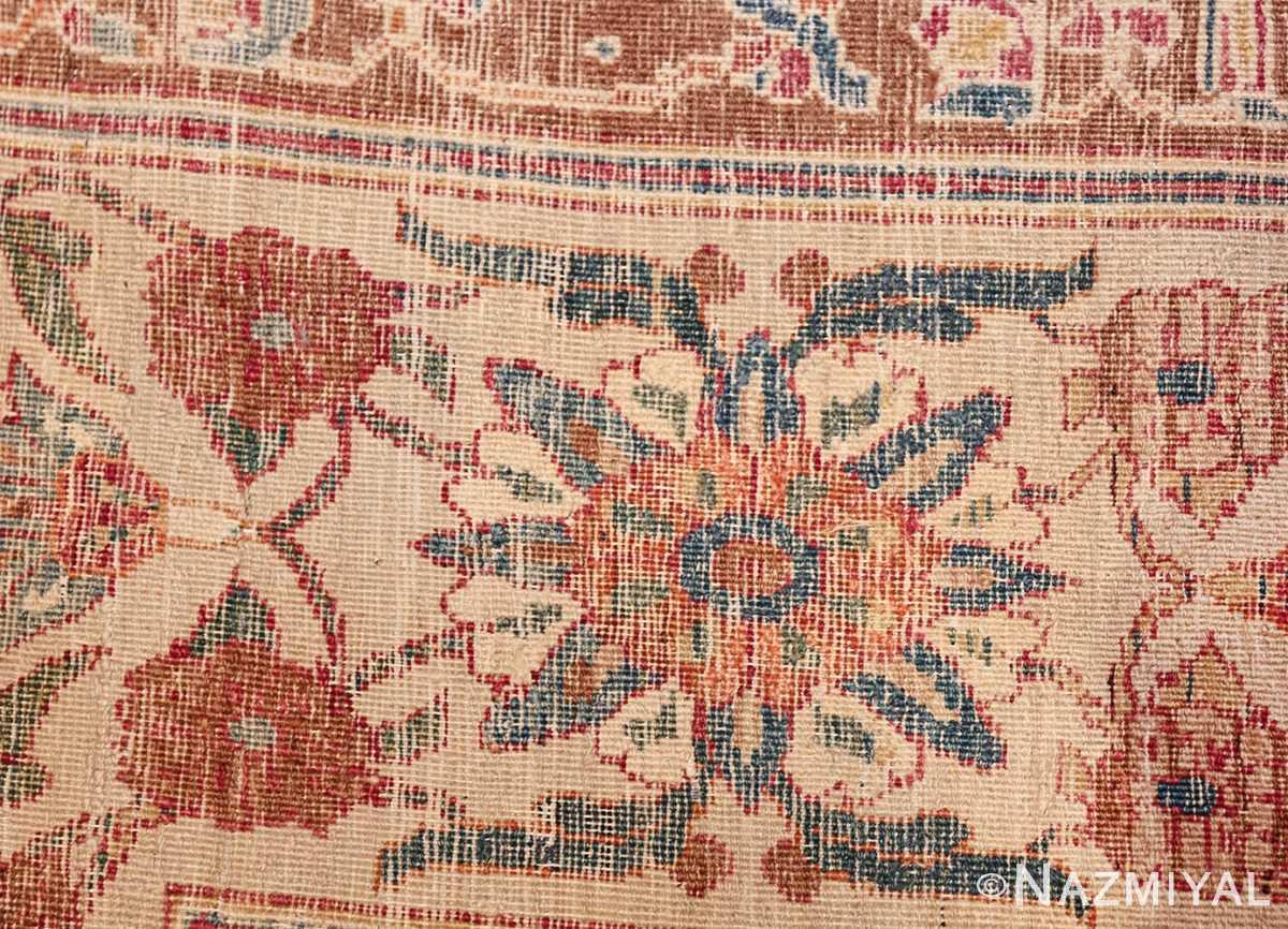 large square antique persian kerman rug 49676 knots Nazmiyal