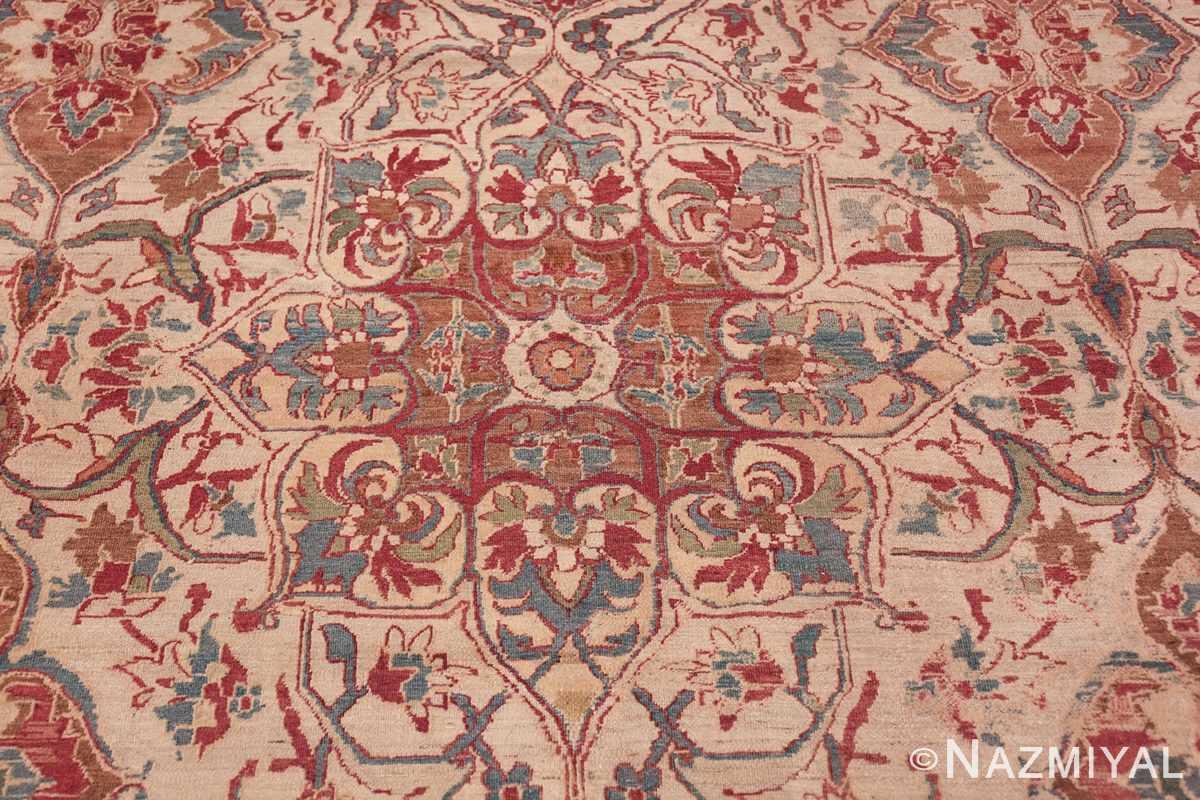 large square antique persian kerman rug 49676 medallion Nazmiyal