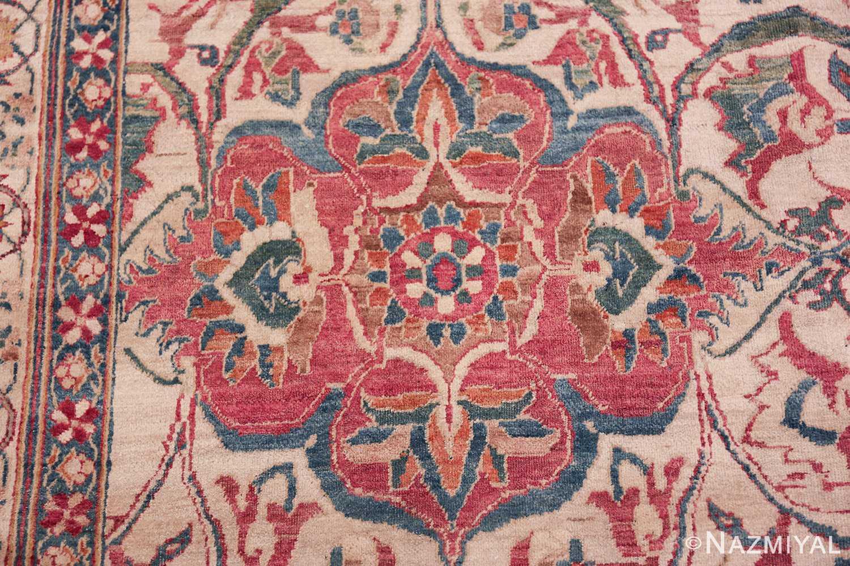 large square antique persian kerman rug 49676 red Nazmiyal
