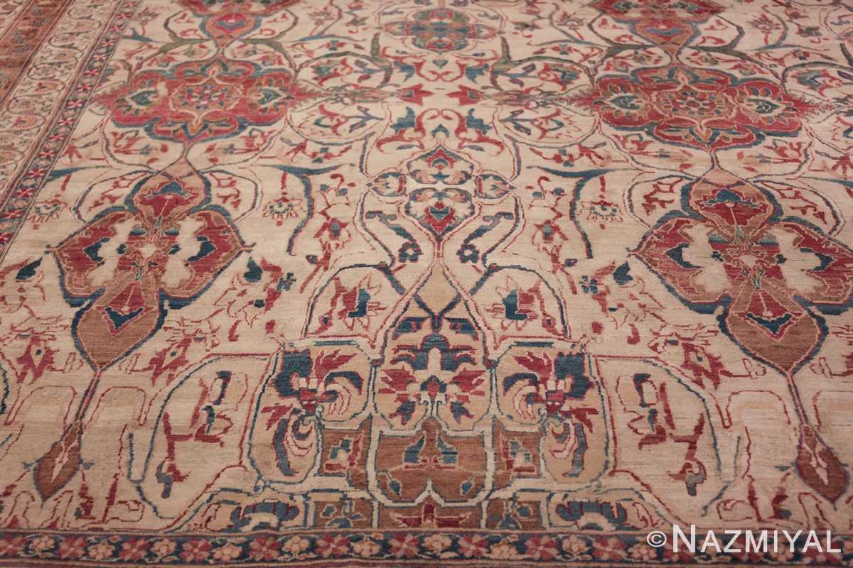 large square antique persian kerman rug 49676 yellow Nazmiyal