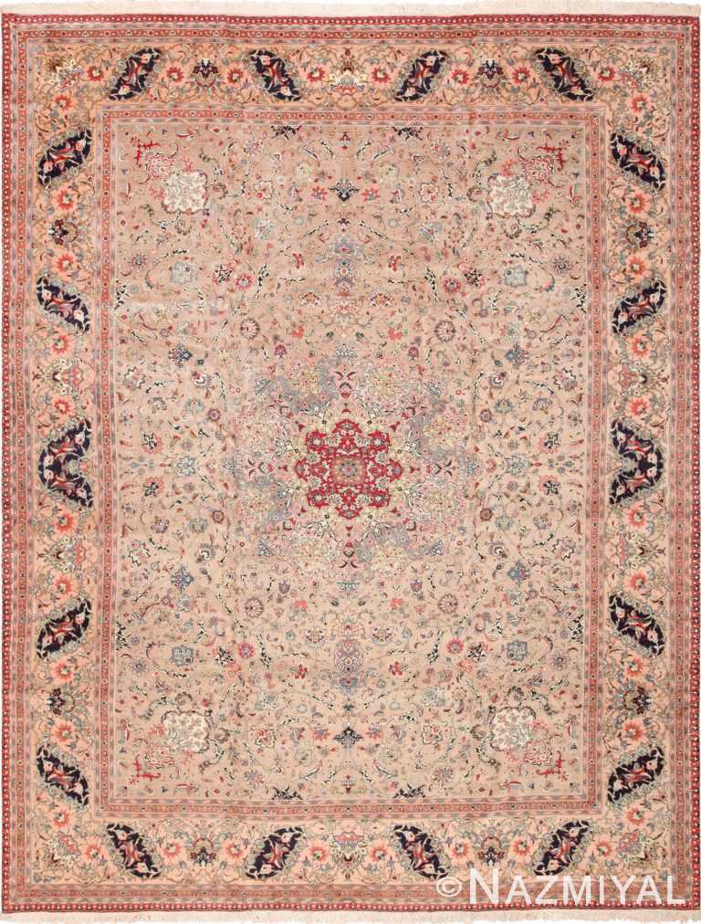 Fine Decorative Large Vintage Persian Tabriz Rug 60011 by Nazmiyal