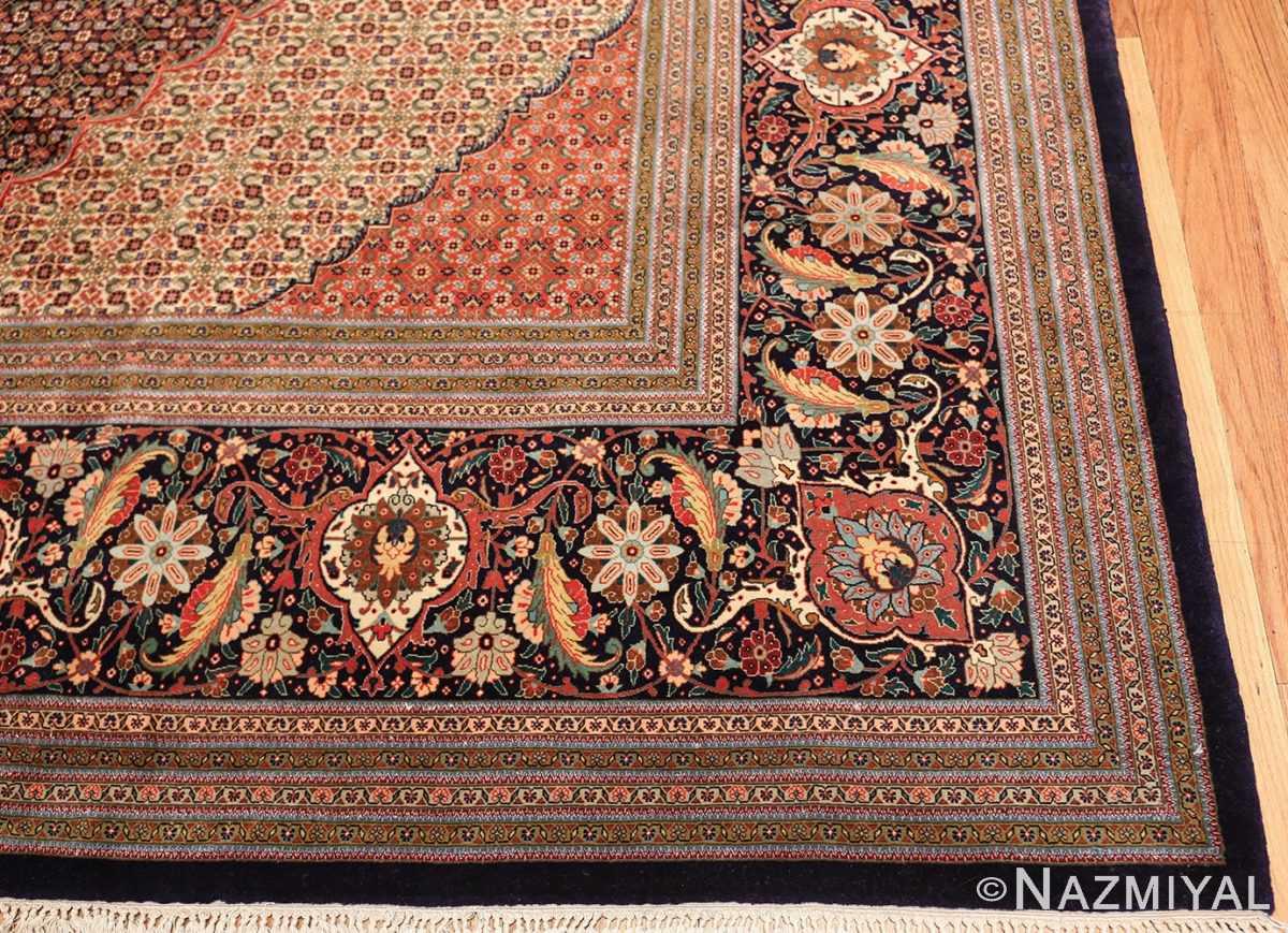 large vintage tabriz persian rug 60028 corner Nazmiyal