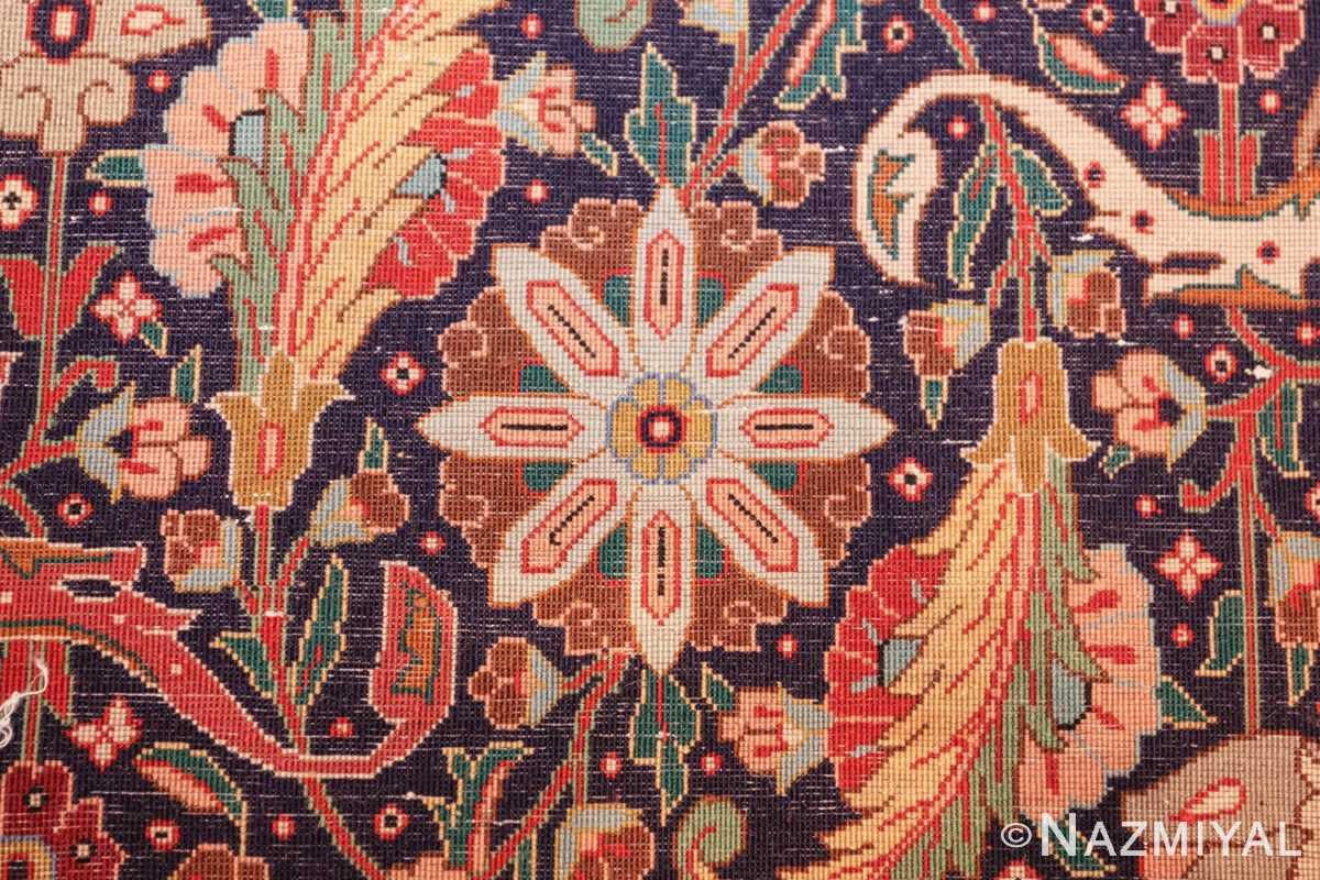 large vintage tabriz persian rug 60028 knots Nazmiyal