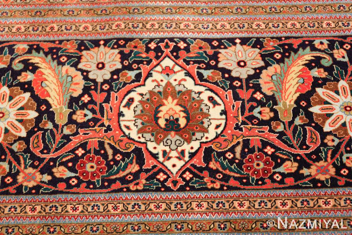 large vintage tabriz persian rug 60028 white Nazmiyal