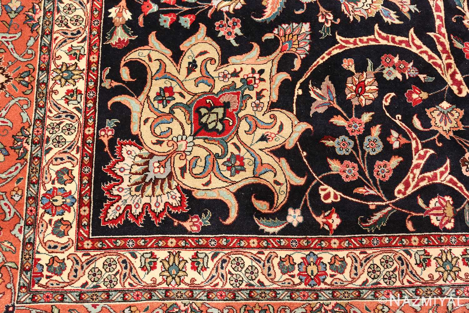 large vintage tabriz persian rug 60040 design Nazmiyal