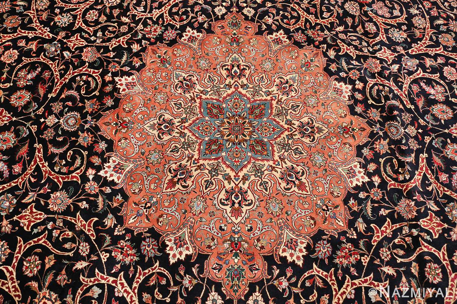 large vintage tabriz persian rug 60040 field Nazmiyal