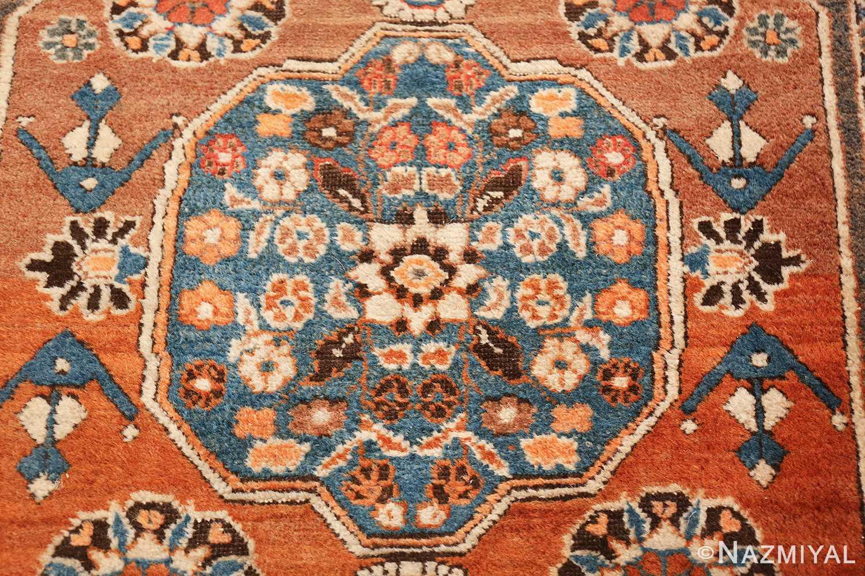 long and narrow antique Persian Tabriz runner rug 49687 Blue Nazmiyal