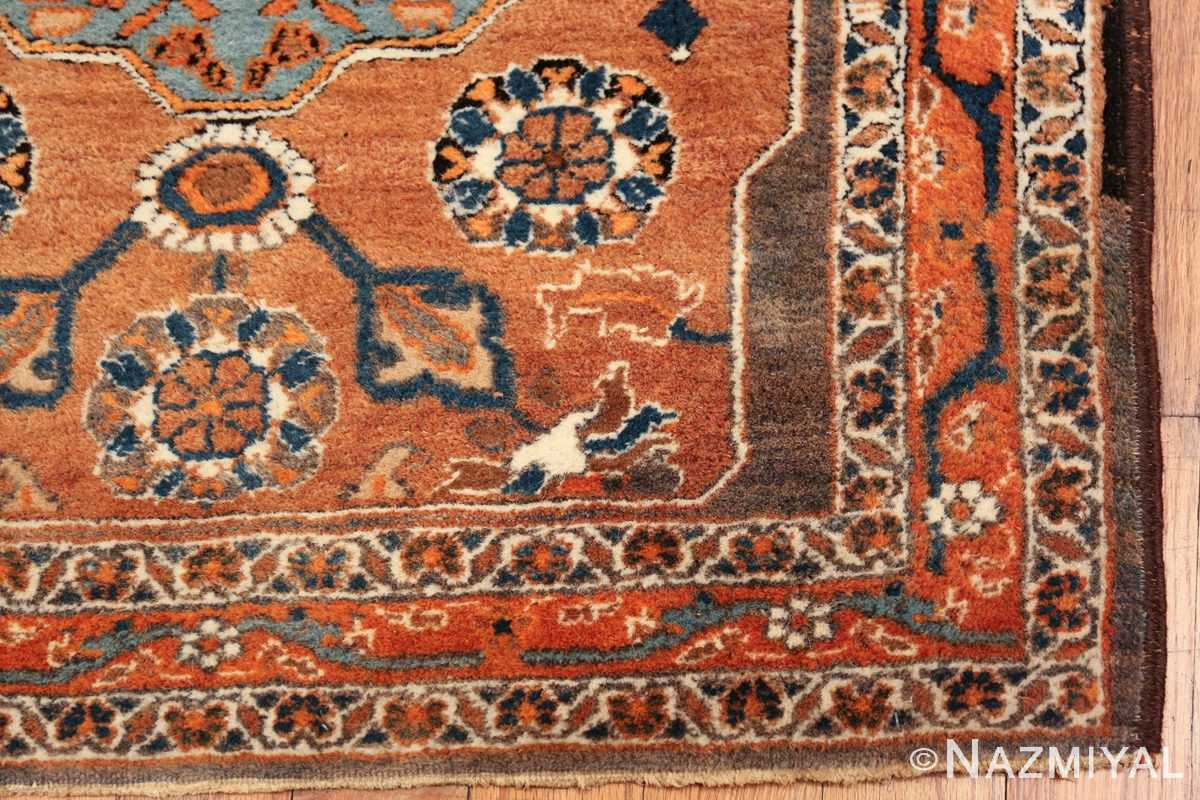 long and narrow antique Persian Tabriz runner rug 49687 corner Nazmiyal