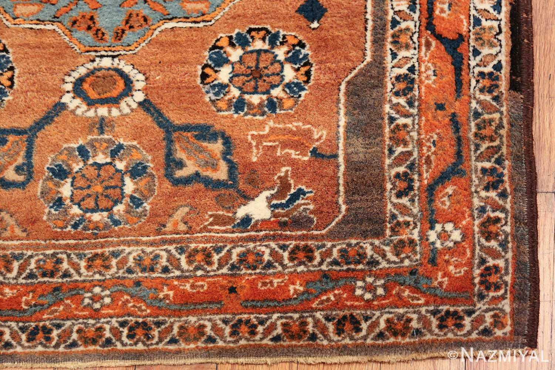 long and narrow antique Persian Tabriz runner rug 49687 corner Nazmiyal