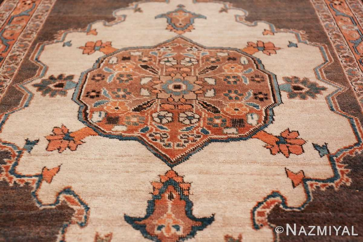 long and narrow antique Persian Tabriz runner rug 49687 Ivory Nazmiyal
