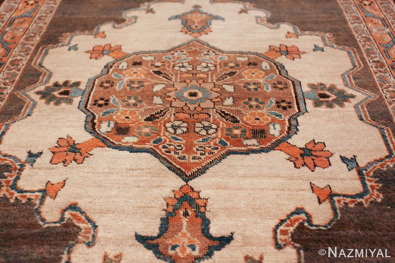 long and narrow antique Persian Tabriz runner rug 49687 Ivory Nazmiyal