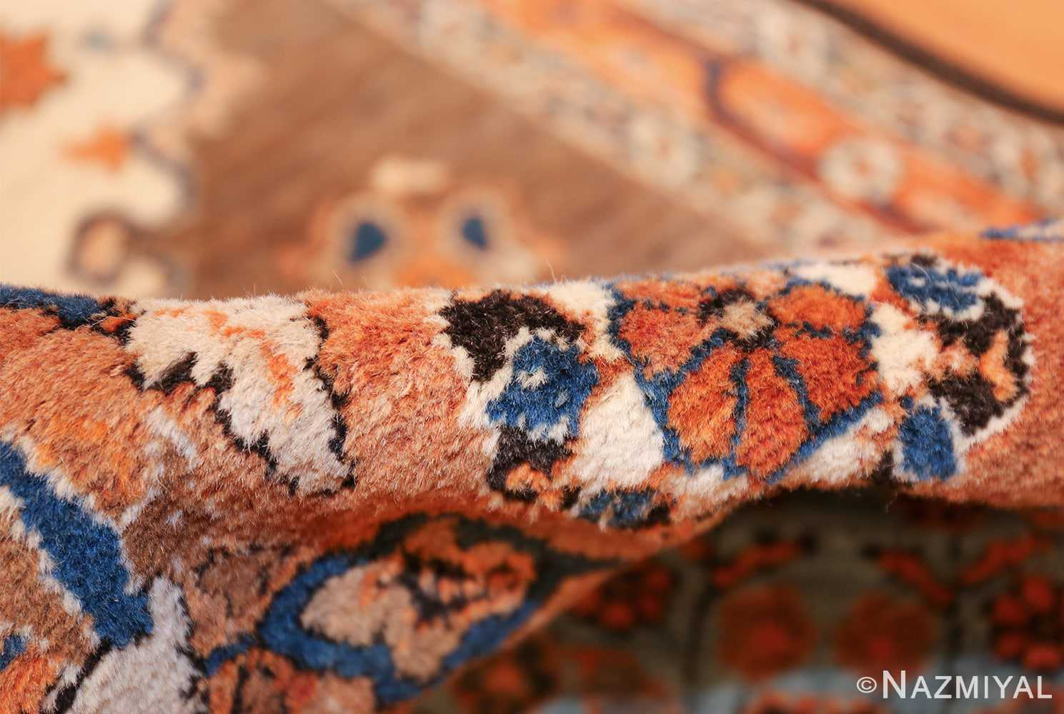 long and narrow antique Persian Tabriz runner rug 49687 Pile Nazmiyal