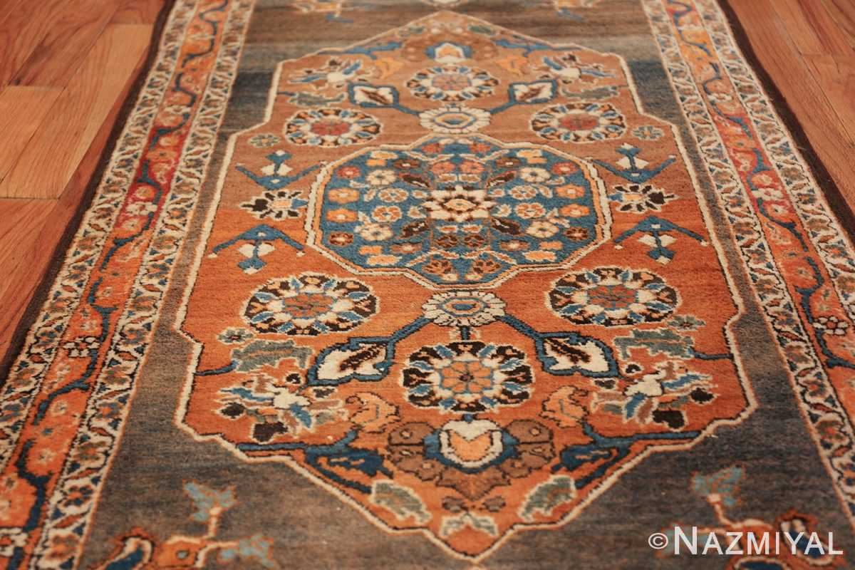 long and narrow antique Persian Tabriz runner rug 49687 Rust Nazmiyal