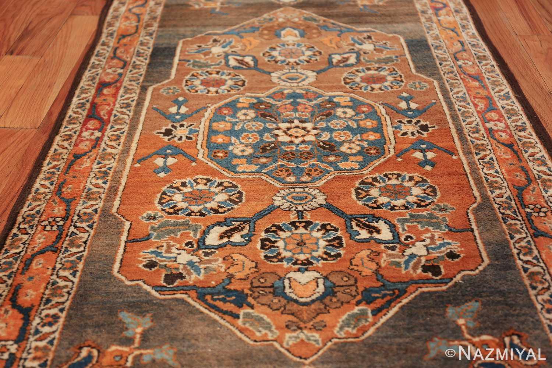 long and narrow antique Persian Tabriz runner rug 49687 Rust Nazmiyal