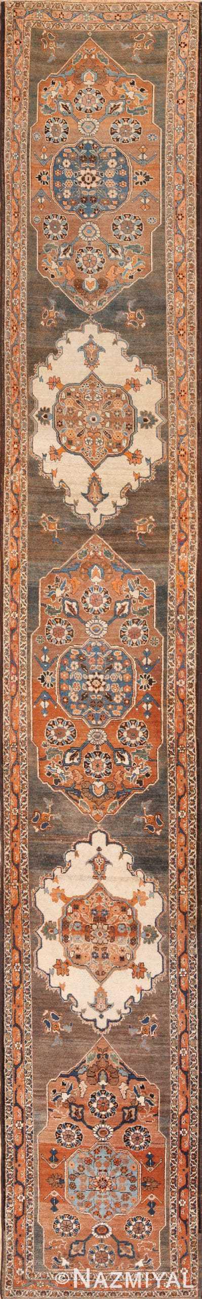Long and Narrow Antique Persian Tabriz Runner Rug 49687 by Nazmiyal
