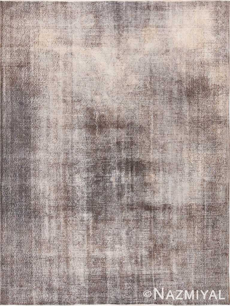 Earthy Mushroom Grey Vintage Room Size Worn Distressed Shabby Chic Turkish Sivas Rug 49695 by Nazmiyal