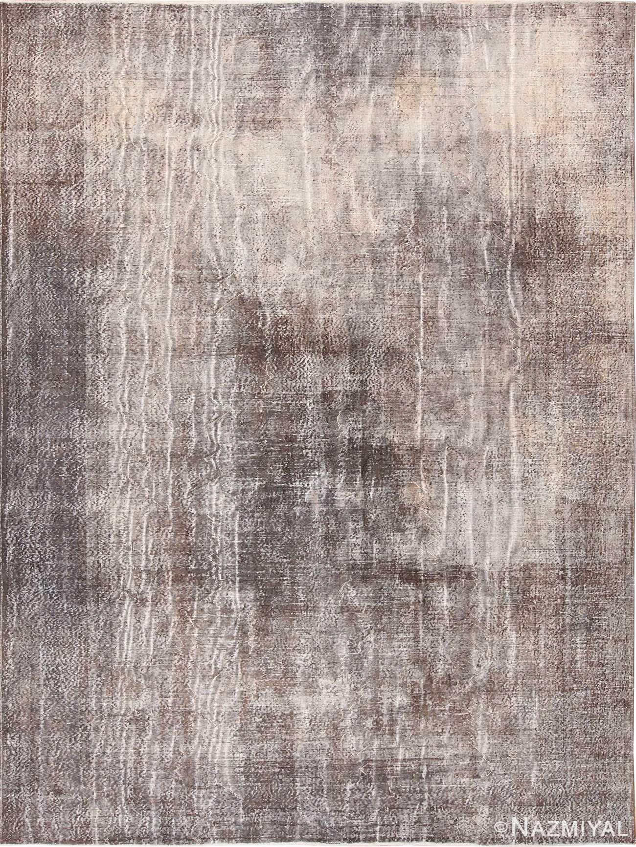 Earthy Mushroom Grey Vintage Room Size Worn Distressed Shabby Chic Turkish Sivas Rug 49695 by Nazmiyal