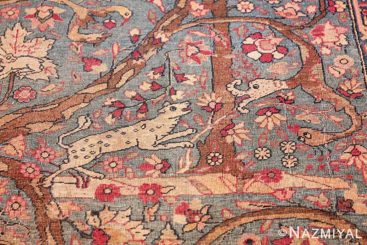 mythical antique tree of life design persian tehran rug 49197 attack Nazmiyal