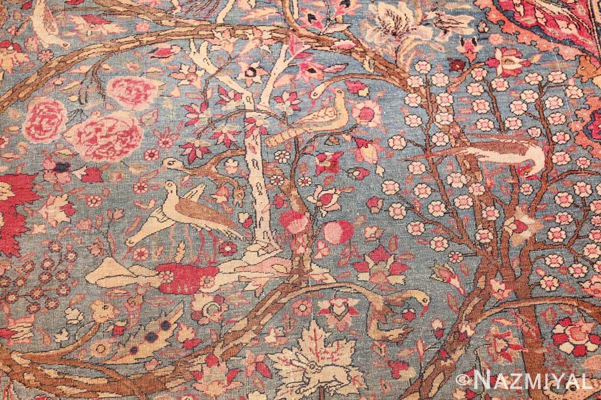 mythical antique tree of life design persian tehran rug 49197 birds Nazmiyal
