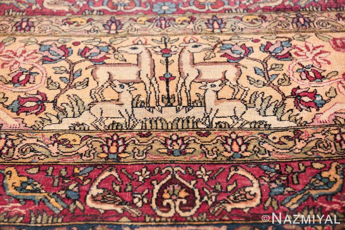 mythical antique tree of life design persian tehran rug 49197 cubs Nazmiyal