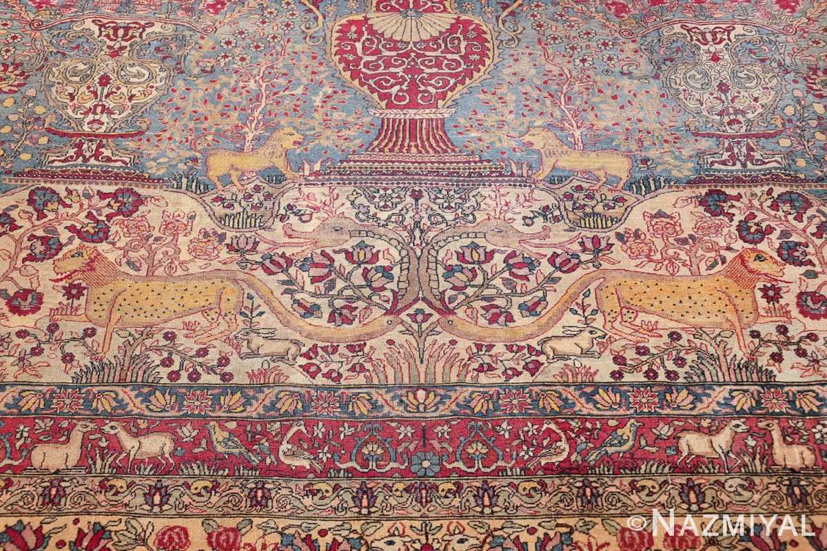 mythical antique tree of life design persian tehran rug 49197 down Nazmiyal