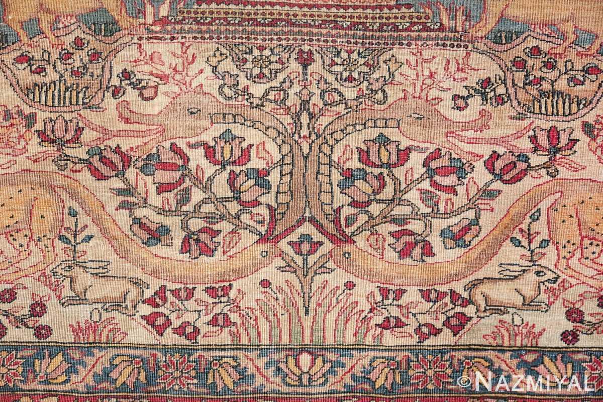 mythical antique tree of life design persian tehran rug 49197 dragon Nazmiyal