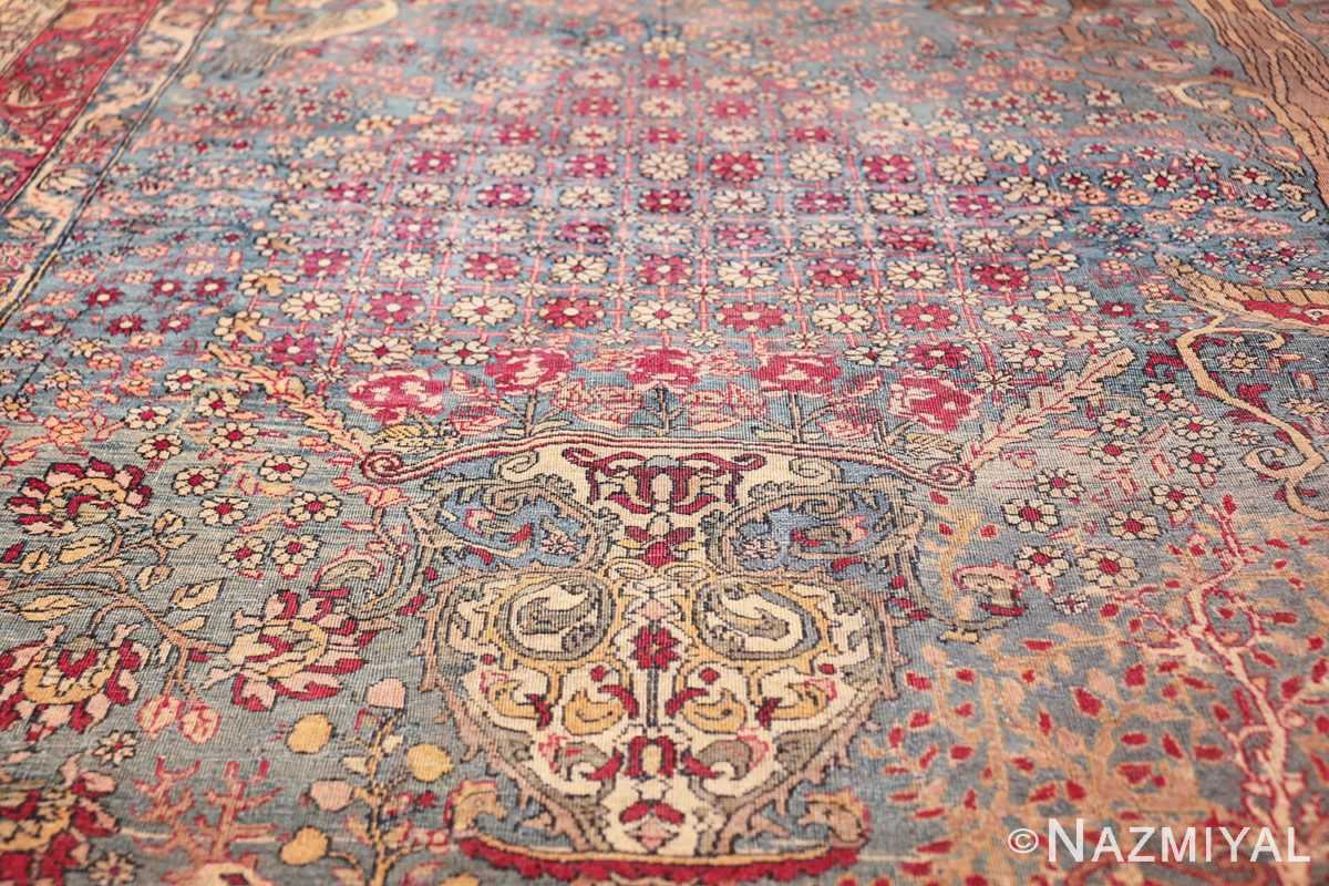 mythical antique tree of life design persian tehran rug 49197 flowers Nazmiyal